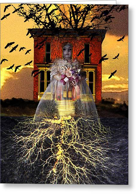 Subconscious Digital Art Greeting Cards - The Doll House Greeting Card by Larry Butterworth