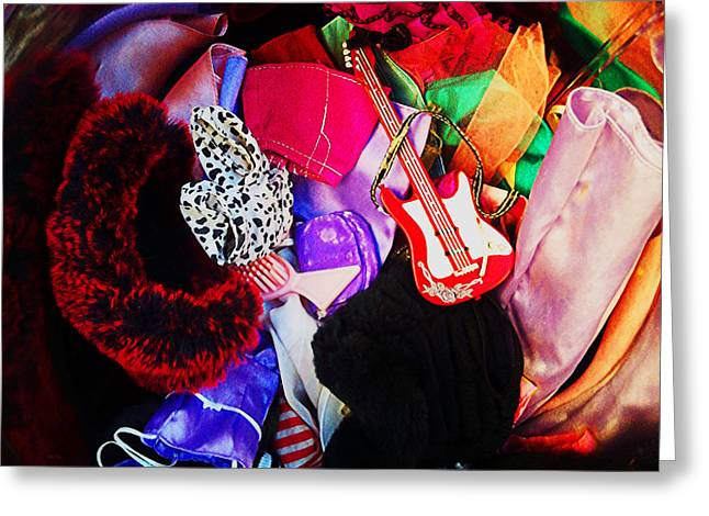 Toy Guitars Greeting Cards - The Dolls Are Hoarders Greeting Card by Shawna  Rowe