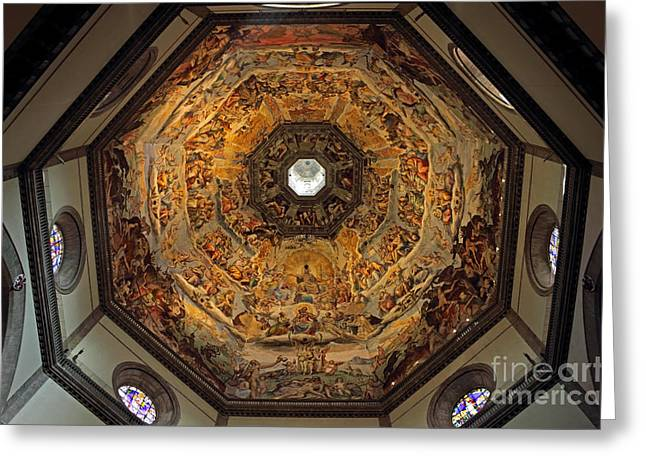 Cupola Greeting Cards - The Dome of Basilica di Santa Maria del Fiore in Florence Greeting Card by Kiril Stanchev