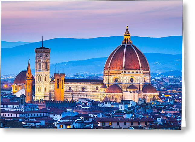 Olive Oil Greeting Cards - The Dome Greeting Card by Stefano Termanini