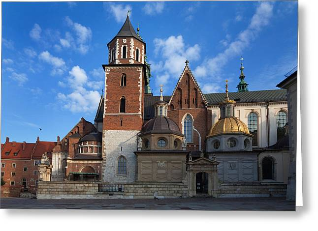 Krakow Greeting Cards - The Domes Above The Sigismund Chapel Greeting Card by Panoramic Images