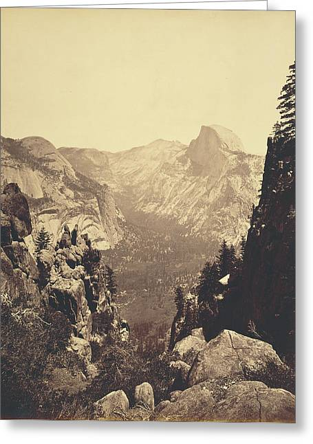 The Domes From Moran Point Carleton Watkins Greeting Card by Litz Collection