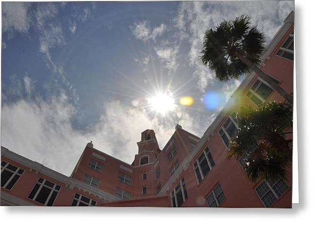 St Petersburg Florida Greeting Cards - The Don Cesear Hotel Greeting Card by Bill Cannon