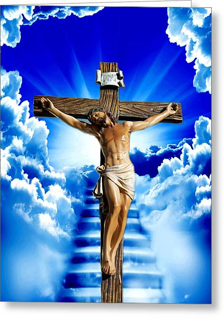 Jesus Greeting Cards - The Door 4 Greeting Card by Karen Showell