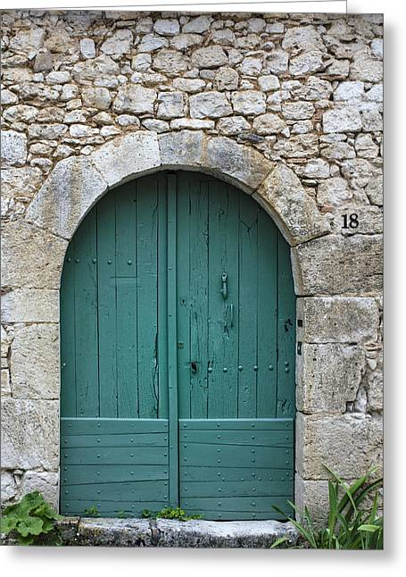 South Of France Greeting Cards - The Door in the Wall Greeting Card by Nomad Art And  Design