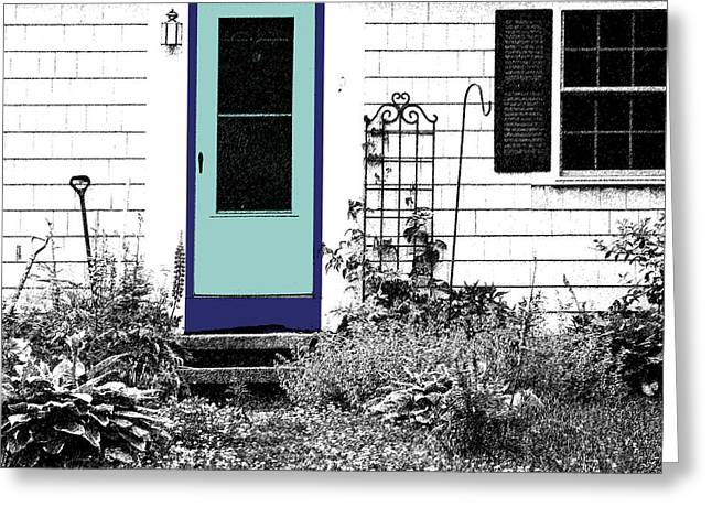 Screen Doors Greeting Cards - The Door Greeting Card by Michelle Wiarda