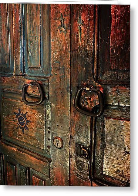 Lucinda Walter Greeting Cards - The Door of Many Colors Greeting Card by Lucinda Walter