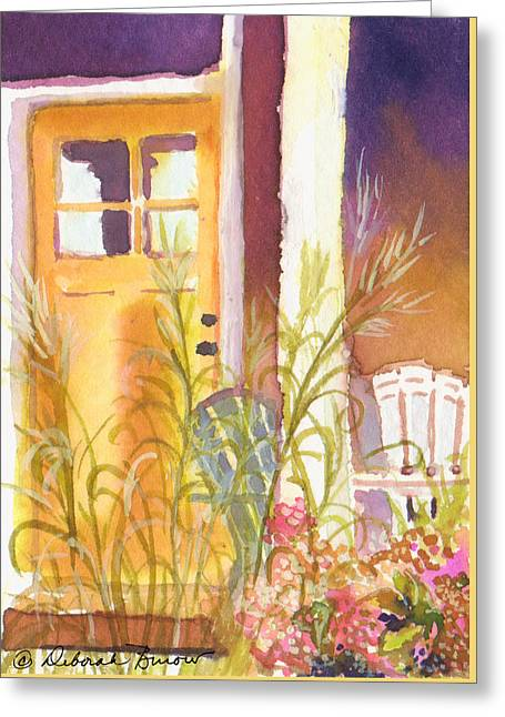 Snippet Greeting Cards - The Door Step Porch Greeting Card by Deborah Burow