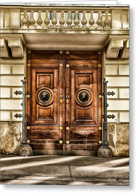 Old Vienna Greeting Cards - The Door To Government Greeting Card by Mountain Dreams