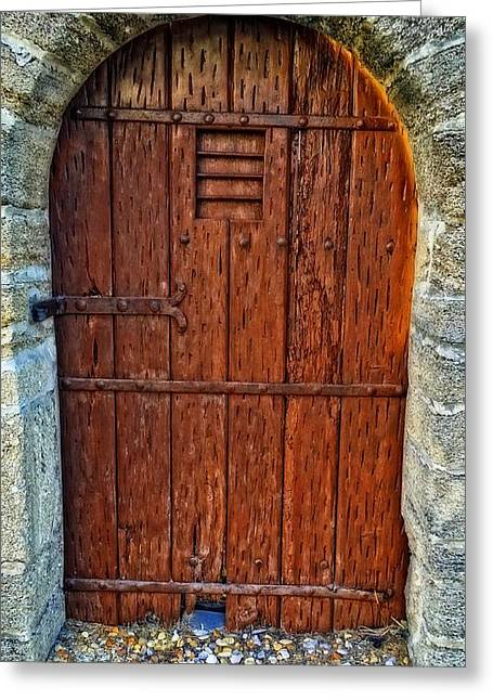 Iron Greeting Cards - The Door - Vintage Art By Sharon Cummings Greeting Card by Sharon Cummings