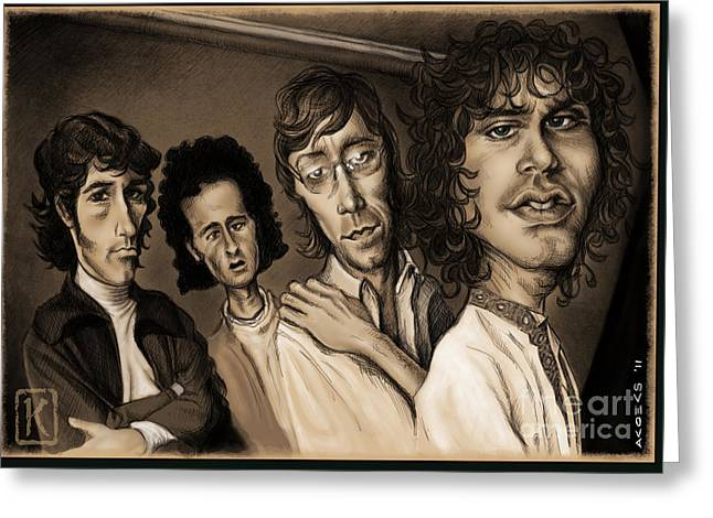 The Doors Greeting Cards - The Doors Greeting Card by Andre Koekemoer