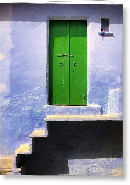 Wooden Stairs Greeting Cards - The doors of wisdom Greeting Card by A Rey