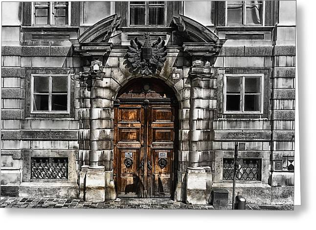 Wien Greeting Cards - The Doors to Information Greeting Card by Mountain Dreams