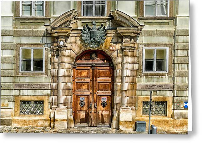 Wien Greeting Cards - The Doorway Greeting Card by Mountain Dreams