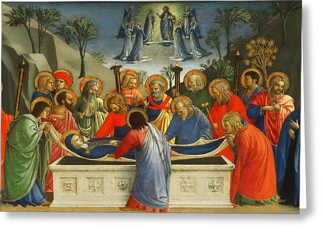 Fra Greeting Cards - The Dormition of the Virgin Greeting Card by Fra Angelico