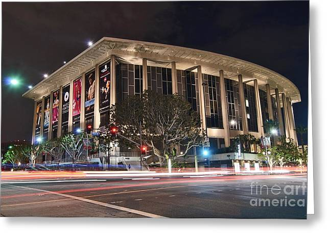 The Dorothy Chandler Pavilion Part Of The Los Angeles Music Center Greeting Card by Jamie Pham