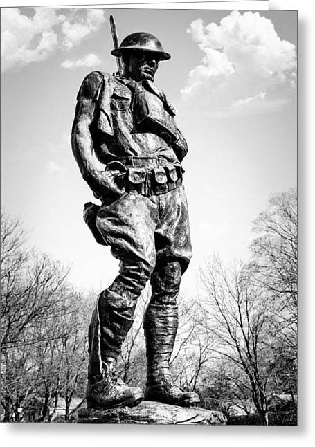 Gi Photographs Greeting Cards - The Doughboy - Tribute to the American Expeditionary Forces of World War 1 Greeting Card by Gary Heller