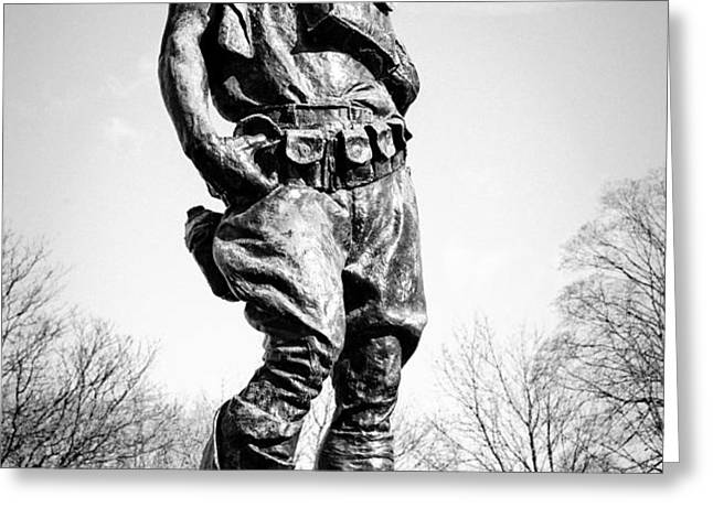The Doughboy - Tribute to the American Expeditionary Forces of World War 1 Greeting Card by Gary Heller