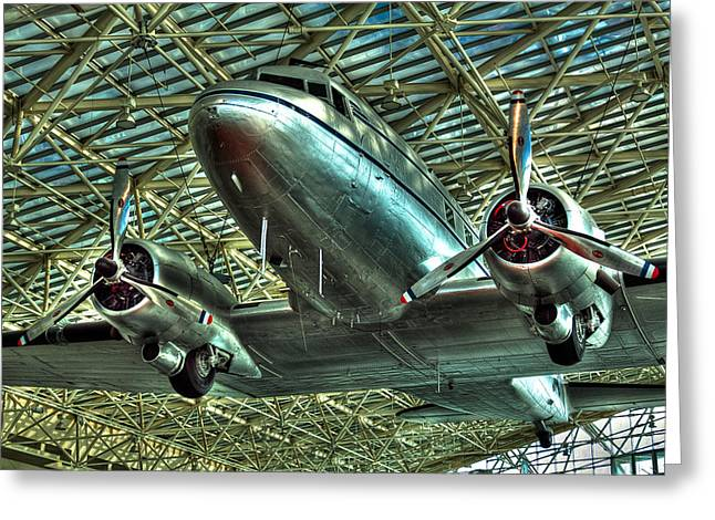 Dc-3 Greeting Cards - The Douglas DC-3 Airplane Greeting Card by David Patterson