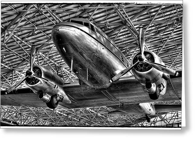 Dc-3 Greeting Cards - The Douglas DC-3 Airplane II Greeting Card by David Patterson
