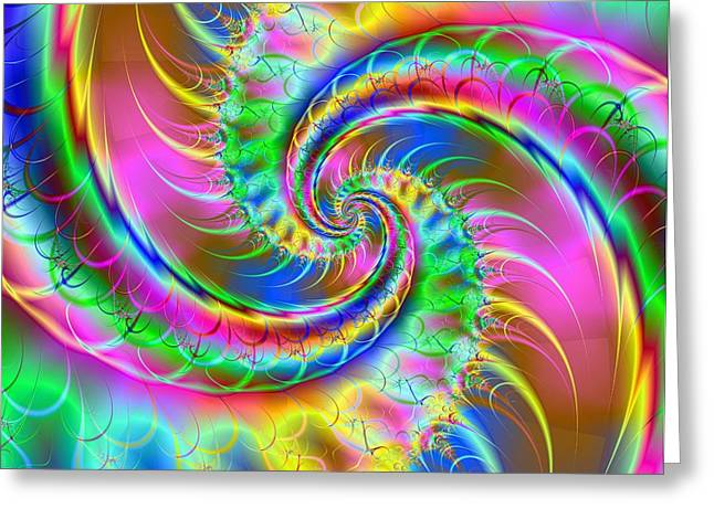 Digita Art Greeting Cards - The Dragons Tail Greeting Card by Ester  Rogers