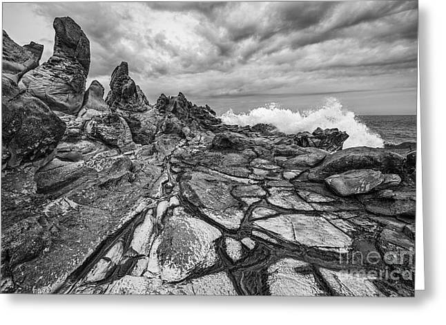 Ledge Greeting Cards - The Dragons Teeth Greeting Card by Jamie Pham