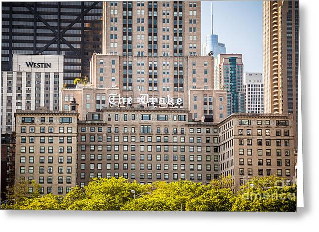 Editorial Photographs Greeting Cards - The Drake Hotel in Downtown Chicago Greeting Card by Paul Velgos