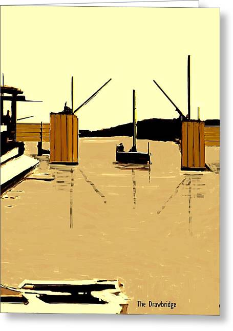 Fineartamerica Greeting Cards - The Drawbridge   Number 1 Greeting Card by Diane Strain