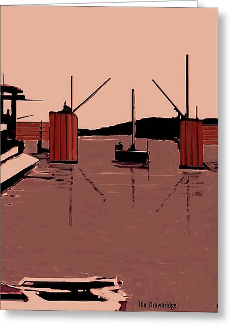 The Drawbridge  Number 10 Greeting Card by Diane Strain