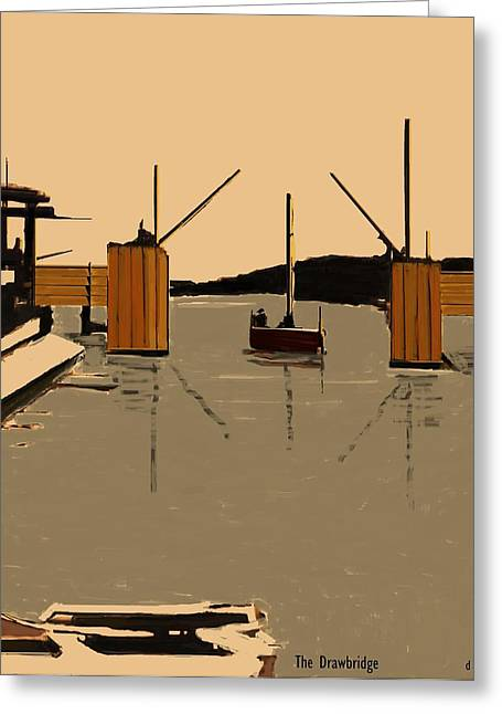 The Drawbridge   Number 15  Greeting Card by Diane Strain