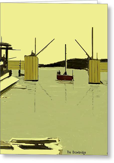The Drawbridge   Number 17 Greeting Card by Diane Strain