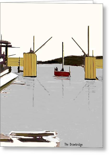 The Drawbridge   Number 19 Greeting Card by Diane Strain