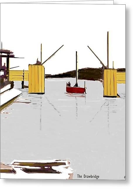 The Drawbridge   Number 21 Greeting Card by Diane Strain
