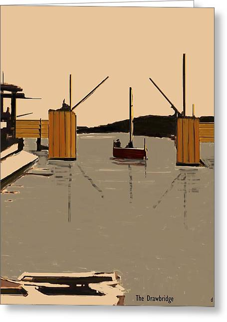 Fineartamerica Greeting Cards - The Drawbridge   Number 3 Greeting Card by Diane Strain