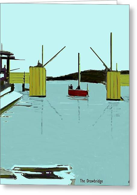 The Drawbridge   Number 5 Greeting Card by Diane Strain