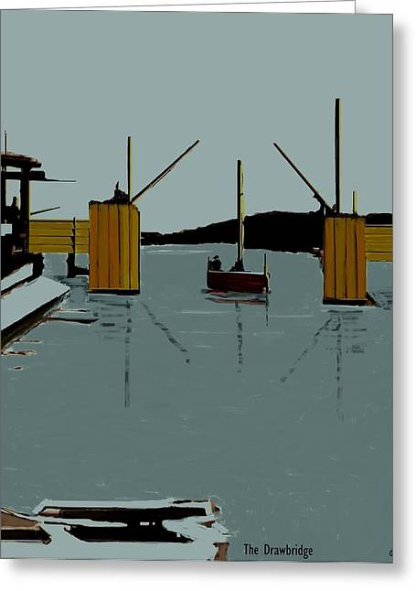 The Drawbridge   Number 8 Greeting Card by Diane Strain