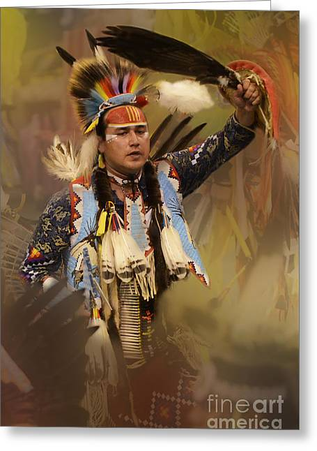 Fancy-dancer Greeting Cards - Pow Wow The Dream Greeting Card by Bob Christopher