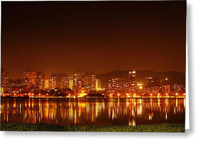 Money Sharma Greeting Cards - The Dream City - Mumbai Greeting Card by Money Sharma