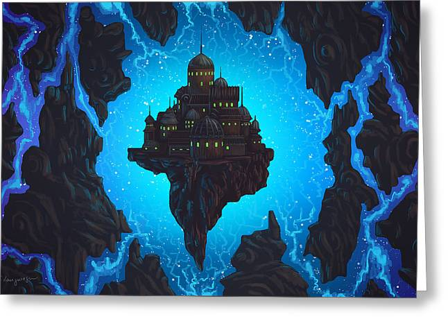 The Dream Fissure Greeting Card by Cassiopeia Art
