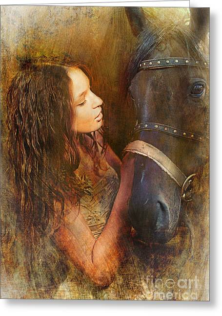 Shadow Horse Studios Greeting Cards - The Dream Greeting Card by Lyndsey Warren