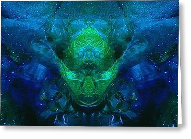 Abstract Digital Mixed Media Greeting Cards - The Dream Mind Greeting Card by Wolfgang Schweizer