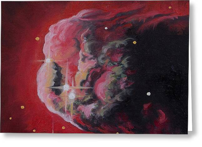 Monoceros Paintings Greeting Cards - The Dream of Monoceros Cone Nebula Greeting Card by Julie Kanapaux