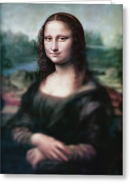 Polite Greeting Cards - The Dream of the Mona Lisa Greeting Card by David Bridburg