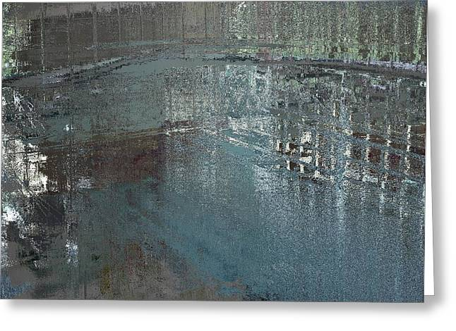 Altered Architecture Greeting Cards - The Dream Pool Greeting Card by Kathryn Fullerton