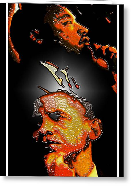 President Obama Mixed Media Greeting Cards - The Dream Realized Greeting Card by Myrna Hawkins