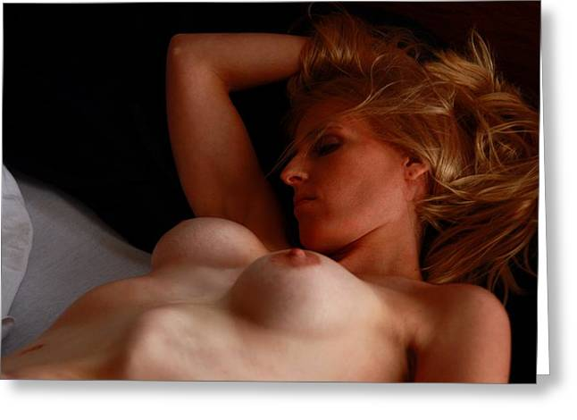 Nudes Greeting Cards - The Dreamer Greeting Card by Joe Kozlowski