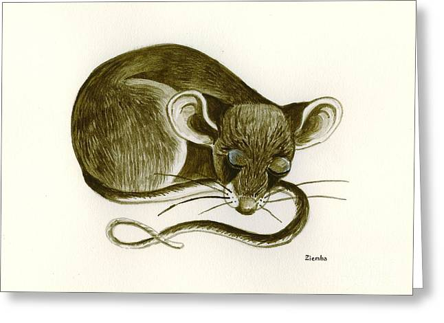 Lori Ziemba Greeting Cards - The Dreaming Mouse Greeting Card by Lori Ziemba