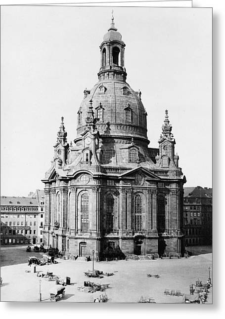 Frauenkirche Greeting Cards - The Dresden Frauenkirche Greeting Card by Celestial Images
