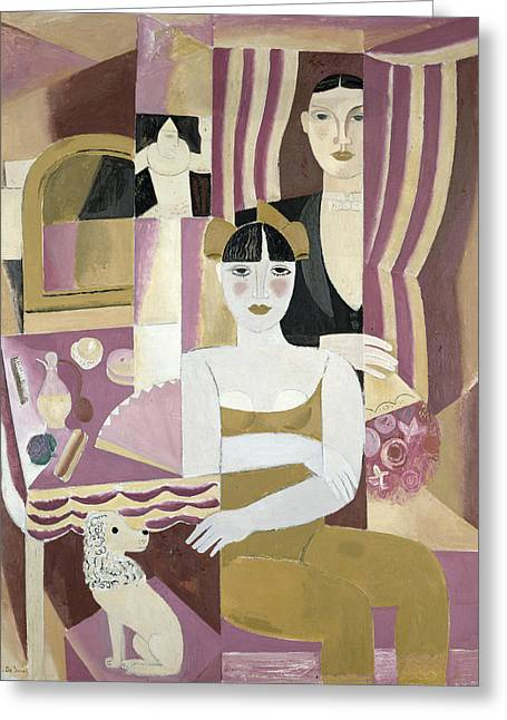 Theatres Greeting Cards - The Dressing Room Greeting Card by Gustave de Smet