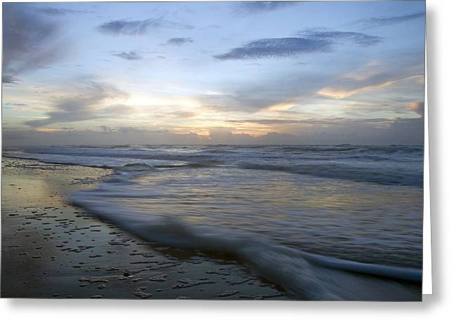 Topsail Island Greeting Cards - The Drifting Ways of the Wave Greeting Card by Betsy A  Cutler